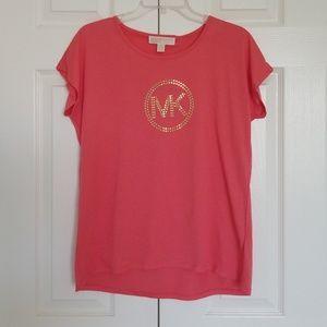 NWT Michael Kors Coral Peach Tshirt